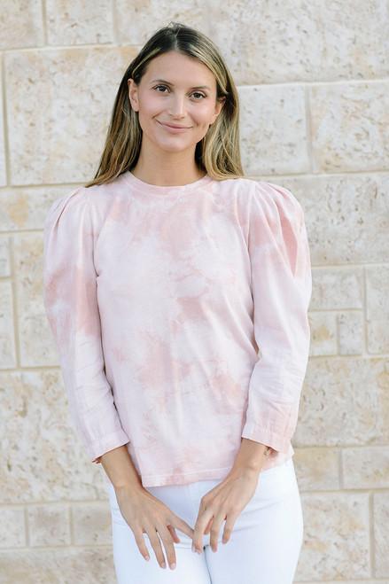 Raquel Allegra Victorian Tie Dye Top