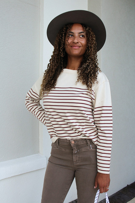 Closed Stripe Tee Front View