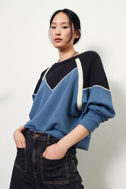 Ba&sh Brick Colorblock Sweatshirt Side View