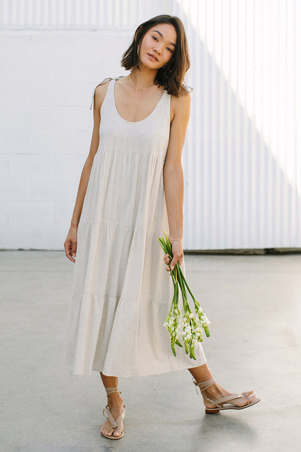 Rachel Pally Adelaide Linen Dress Front View