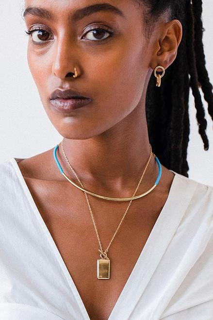 SOKO Shanga Collar Necklace Turquoise