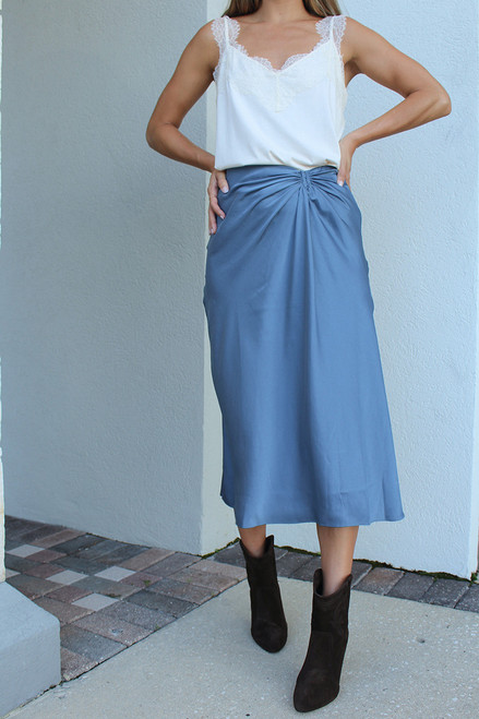 BA&SH Candice Midi Skirt Front View
