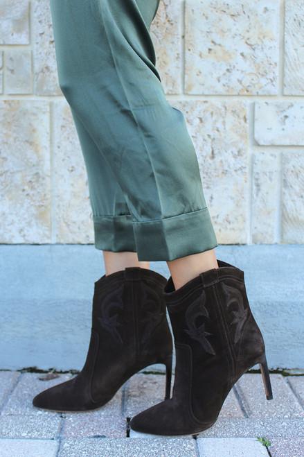 BA&SH Caitlin Heel Suede Boots