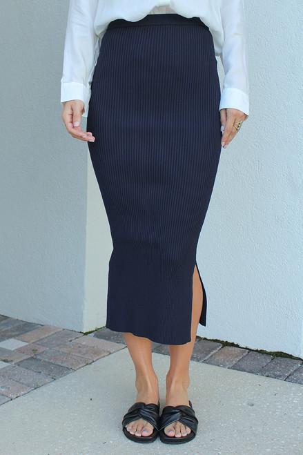 CAMI NYC Leah Rib Midi Skirt