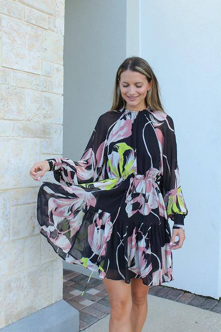 ESSENTIEL Aubrey Puff Sleeve Mini Dress