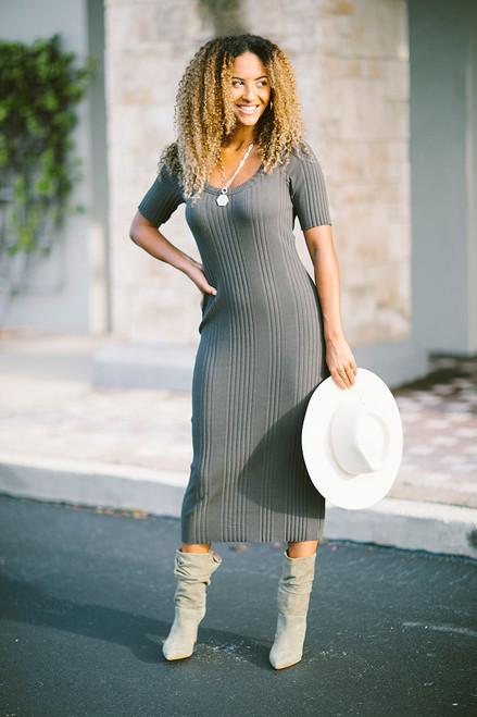 STATESIDE Scoop Midi Dress Front View