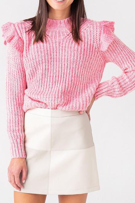 Greylin Ruth Ruffle Shoulder Sweater