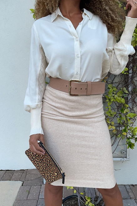 One Grey Day Everly Midi Skirt