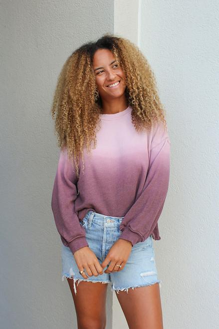 Xirena Honor Dip Dye Sweatshirt Front View