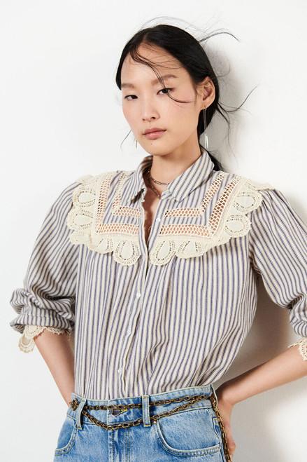 BA&SH Anael Pintuck Shirt