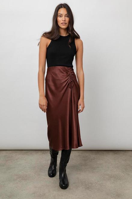 Rails Mischa Ruched Tie Midi Skirt