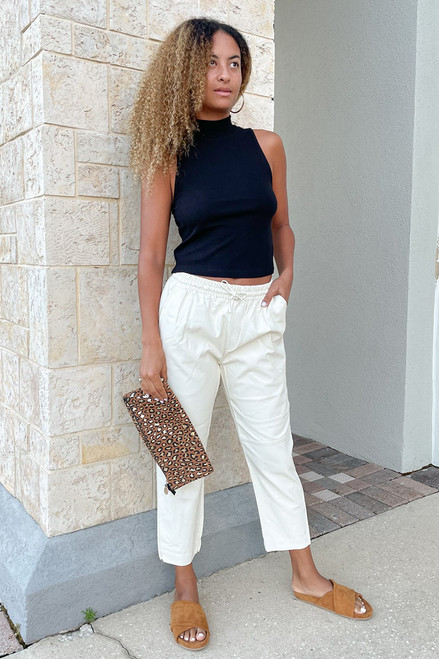 Deluc Fleetwood Vegan Leather Track Pant outfit view