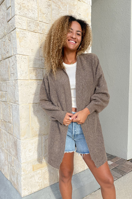 RD Style Cozy Duster Cardigan Front View