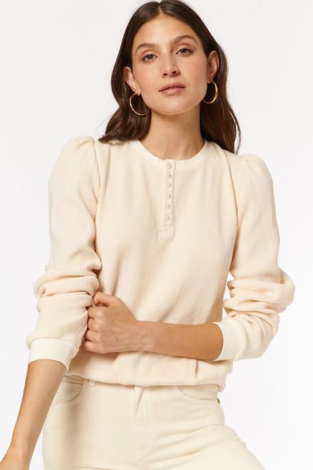 Cami NYC Leilani Half Buttondown Puff Sleeve  Top
