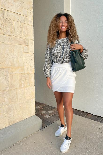 Amanda Uprichard Voila Drape Mini Skirt