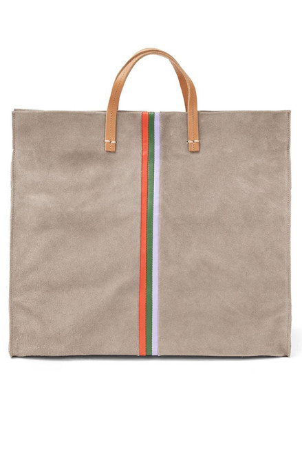 Clare V Simple Suede Striped Tote