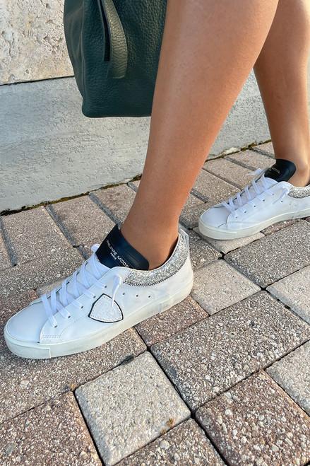 Philippe Model Prsx Glitter Low Sneaker