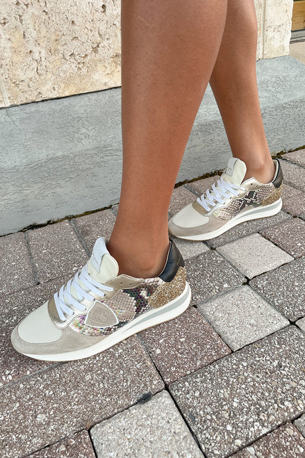 Philippe Model Prsx Python Mixage Low Sneaker