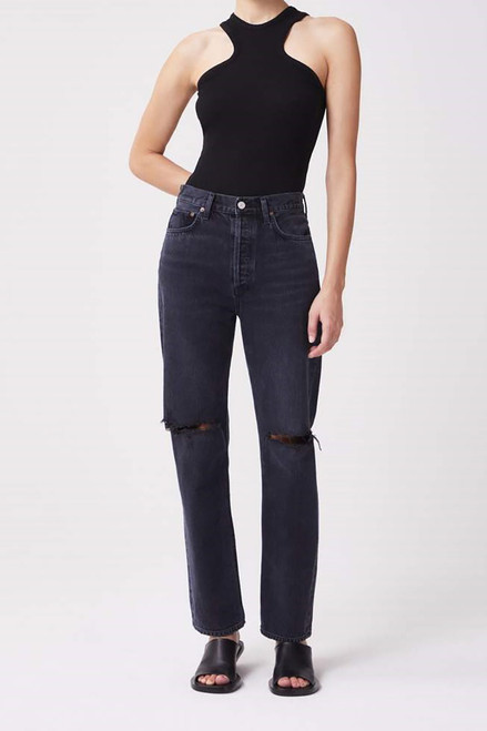 Agolde 90s Pinch Waist Jean in Howl Front View