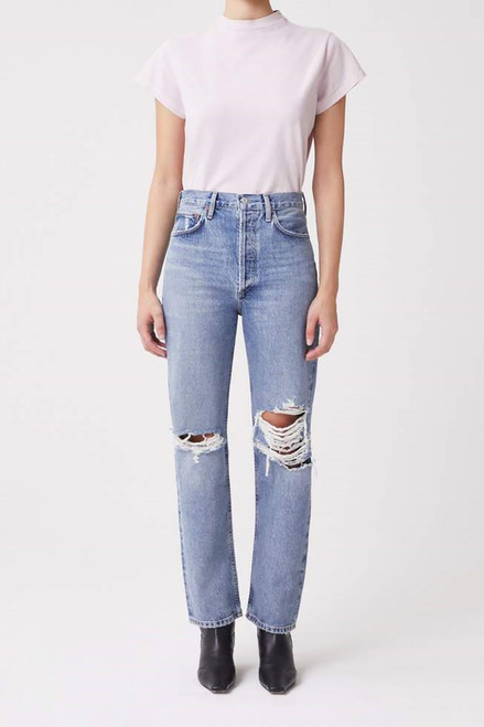 Agolde 90s Pinch Waist Jean in Backdrop Front View