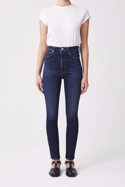 Agolde Pinch Waist Hi Rise Jean in Ovation Front View