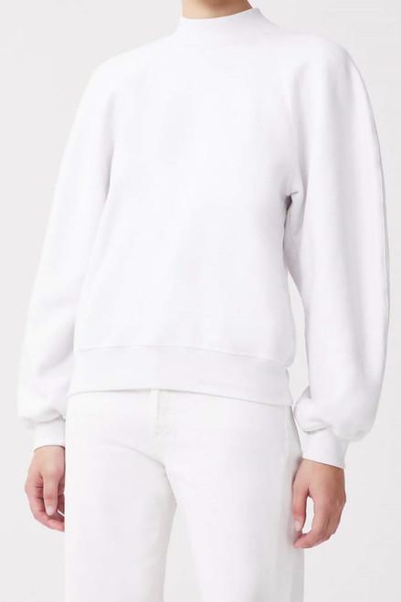Agolde Tarron Mock Neck Sweatshirt Front View