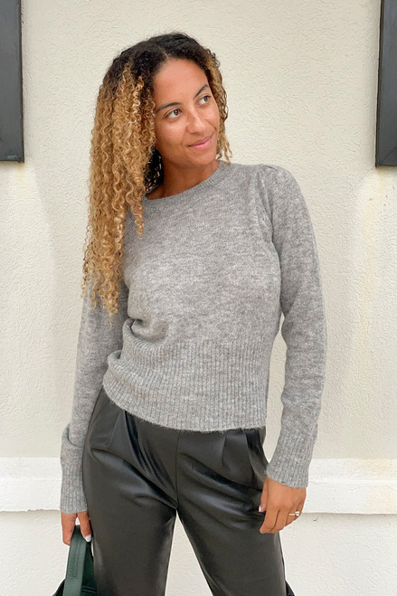 One Grey Day Lucia Pullover Sweater Front View