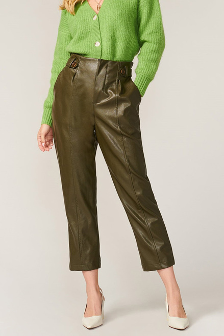 Greylin Lillian Vegan Leather High Waist Pant