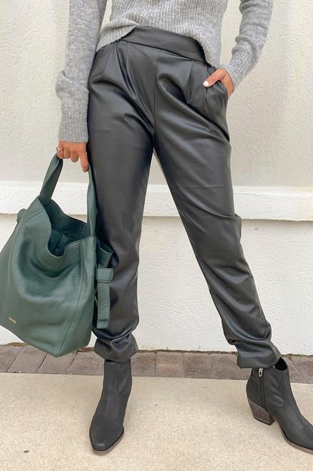 Greylin Nero Vegan Leather Pant