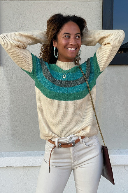 Greylin Megan Funnel Neck Ombre Sweater