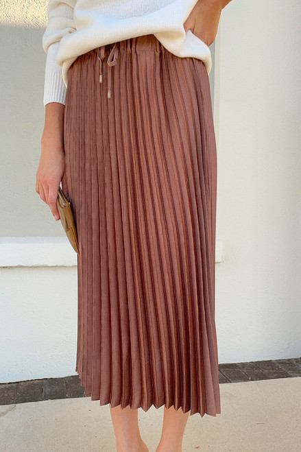 Scotch & Soda Pleated Midi Length Skirt Front View