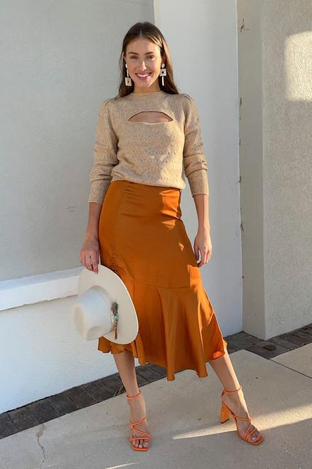 Scotch & Soda Asymmetric Side Tie Skirt Outfit View