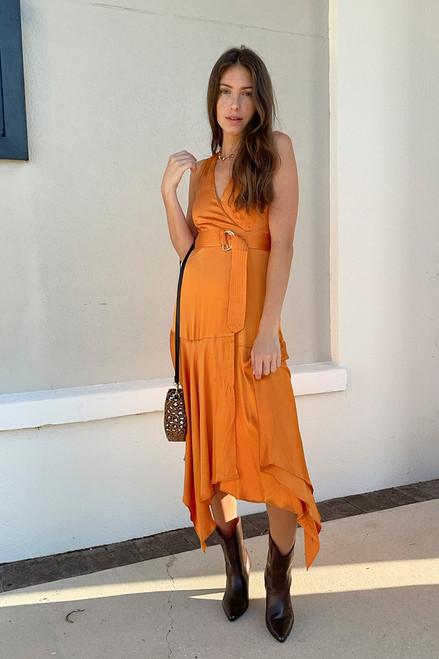 Karina Grimaldi Rhoda Sleeveless Maxi Dress Front View