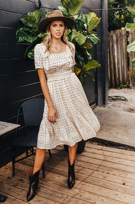 Cleobella Prairie Smocked Midi Dress