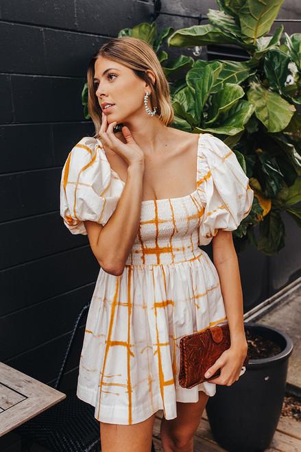 SWF Puff Sleeve Mini Dress