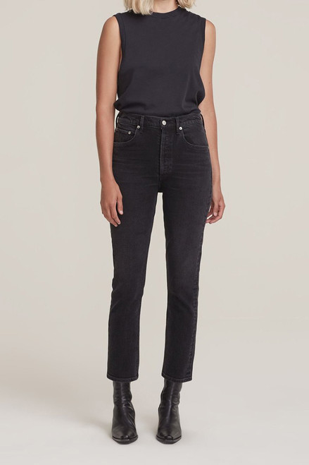 Agolde Riley Crop Straight Jean in Panoramic Front View