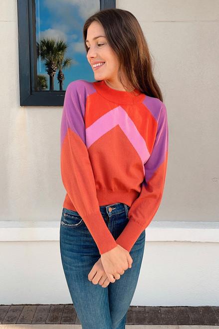 Deluc Lazlo Multi Color Sweater Front View