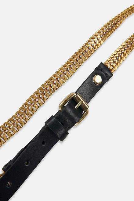 Essentiel Ariana Golden Chain Belt Detail View