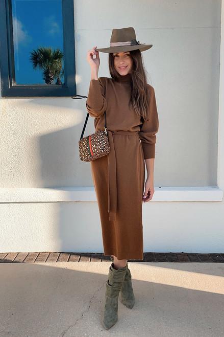 Essentiel Asensation Longsleeve Turtleneck Midi Dress
