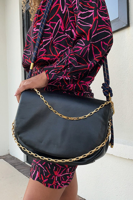 Essentiel Audrey Soft Leather Saddle Bag Side View