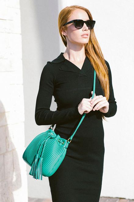 Essentiel Azeffi Pleated Bucket Bag