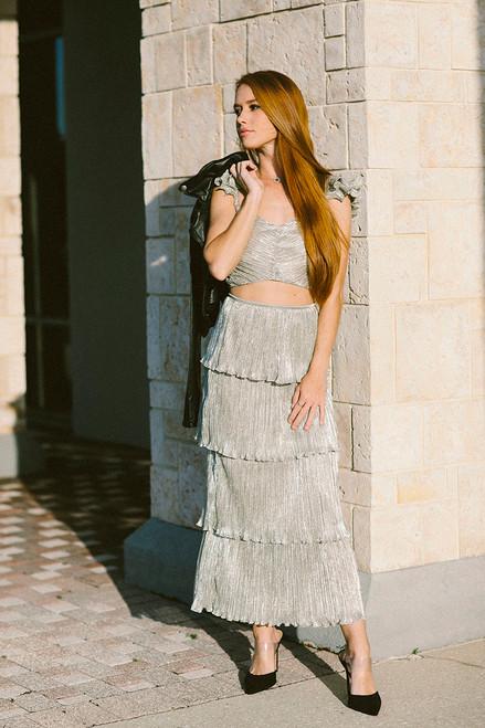 Saylor Gianna Tiered Midi Skirt