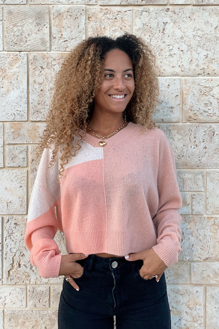 Crush Samara Colorblock Sweater