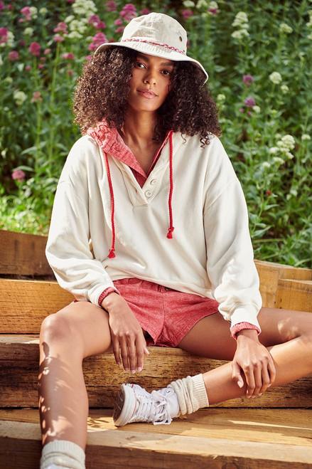 Xirena Kass Button Sweatshirt Model View