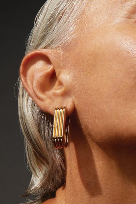 Jenny Bird Rahni Ribbed U-Link Earring
