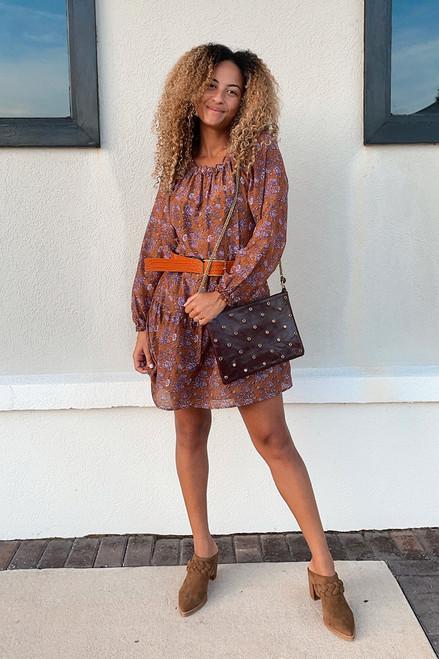 Xirena Lea Longsleeve Mini Dress Front View