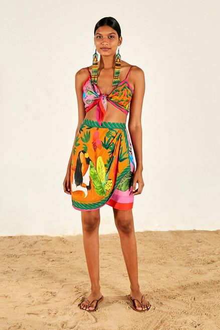 Farm Rio Bahia Mini Skirt front