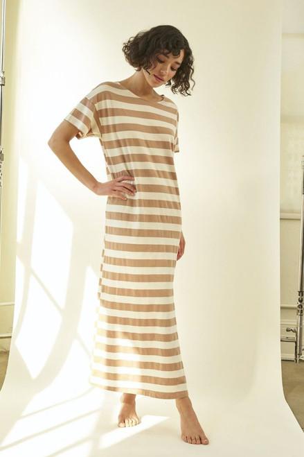 Amo Stripe T-shirt Dress front