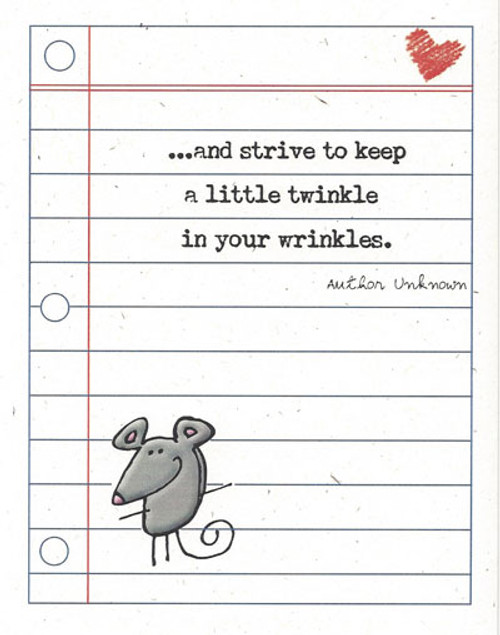Twinkle in your Wrinkle