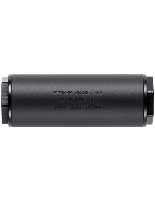 Bowers Group Pocket Suppressor Bitty .22, 22LR suppressor, 22LR silencer, pocket suppressor, 22LR can, smallest silencer, pistol silencers